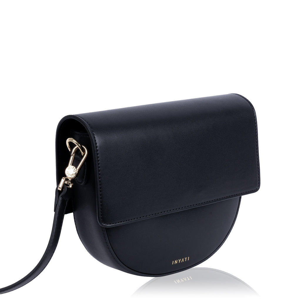 Black Vegan Across Body Handbag - Brooke from the left