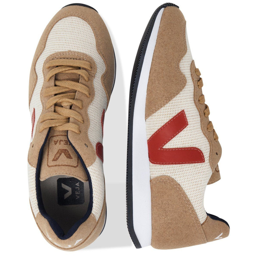 pair Vegan Shoes in Beige by Veja from above for women and for men at ALIVE