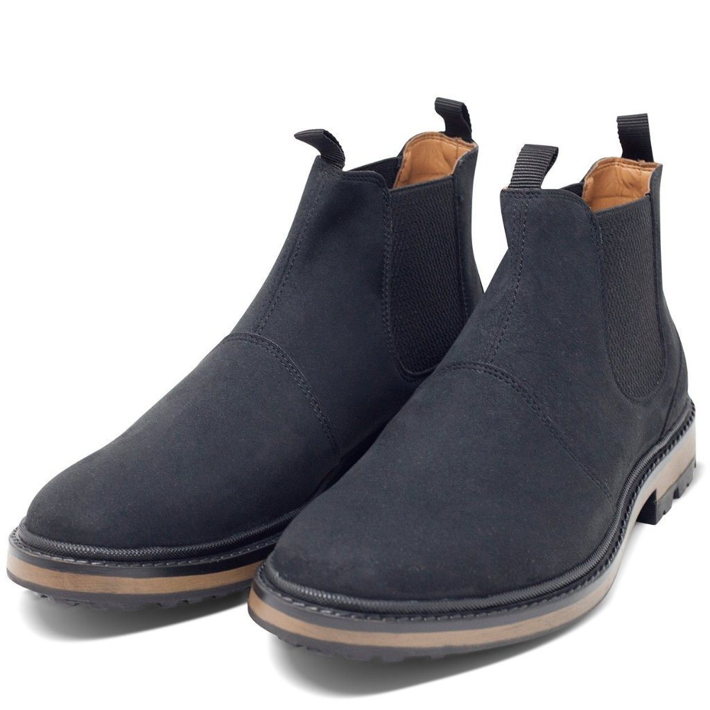 pair of Black Vegan Chelsea Boots Mens Continental by Will's Vegan Shoes at ALIVE Boutique