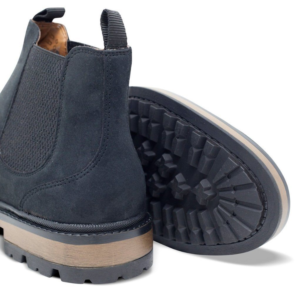 Black Vegan Chelsea Boots Mens Continental picture from behind by Will's Vegan Shoes at ALIVE Boutique