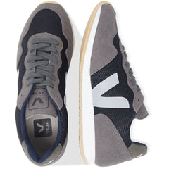pair of Vegan Shoes in Black Graphite from above by Veja at ALIVE Boutique