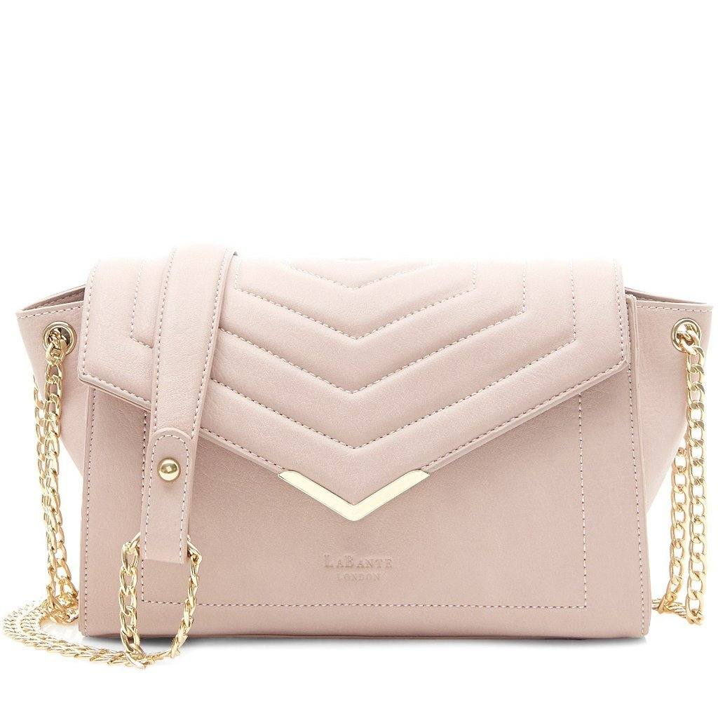 Pink Vegan Cross Body Bag Kensington picture from the front by Labante at ALIVE Boutique