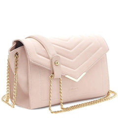 Pink Vegan Cross Body Bag Kensington picture from the side by Labante at ALIVE Boutique