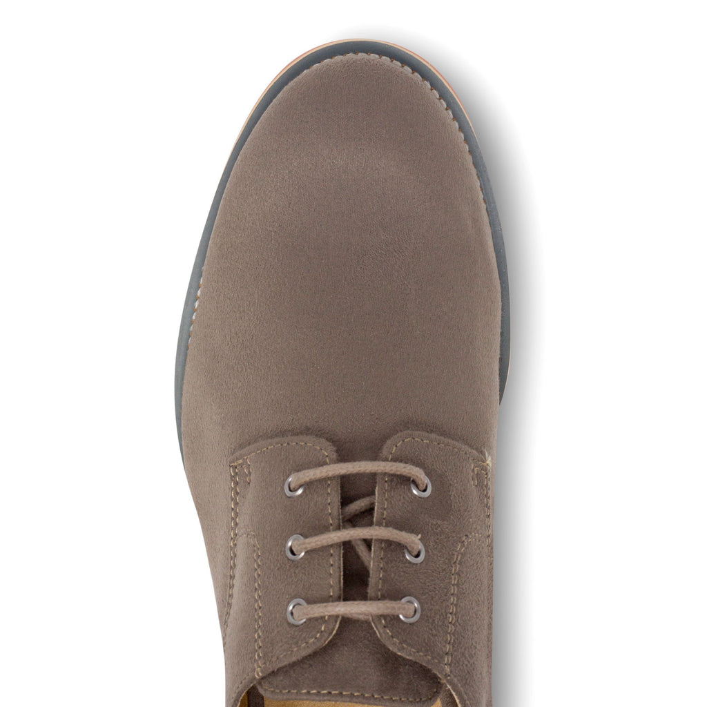 Lace-up Beige Vegan Shoes Aponi from above by Good Guys at ALIVE Boutique