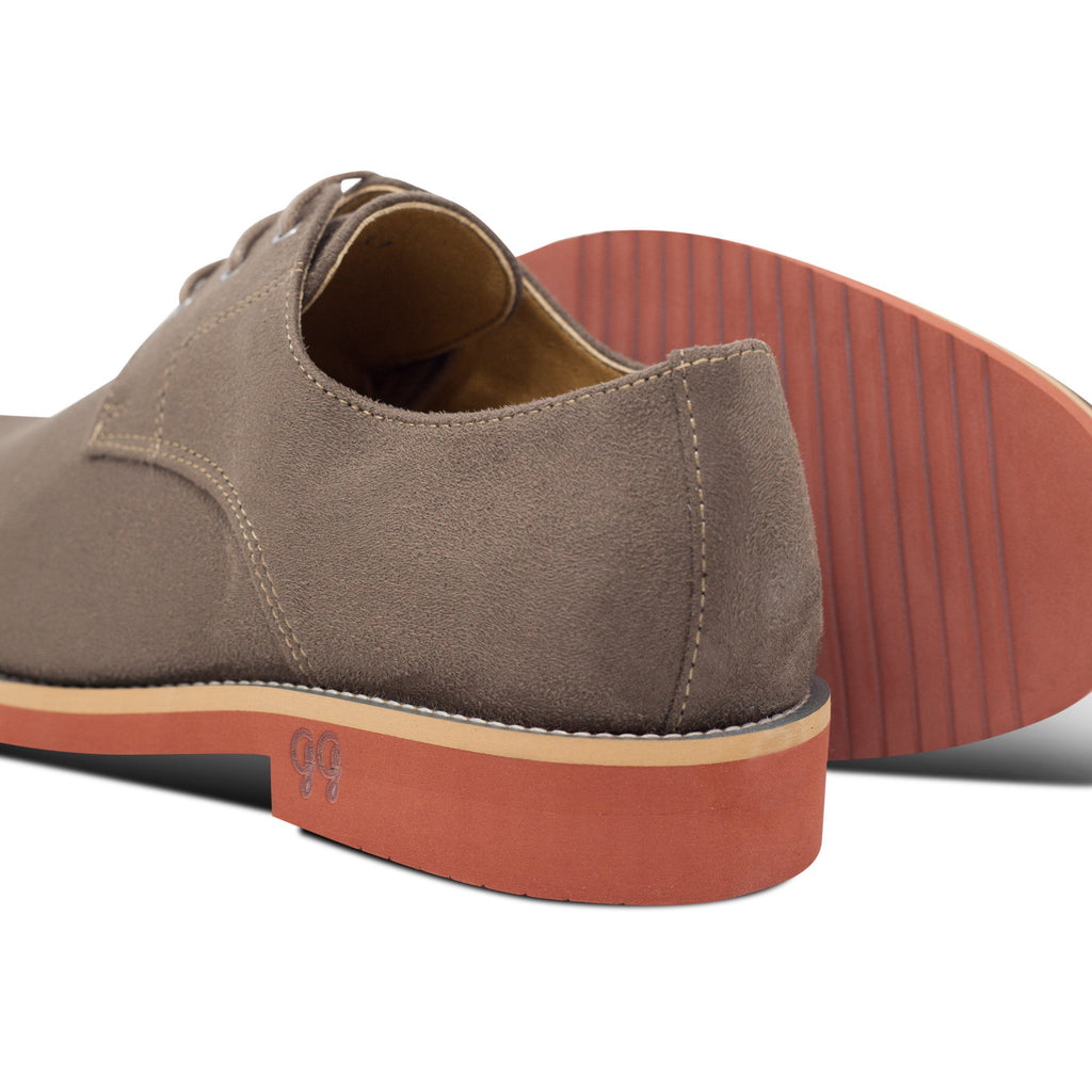 pair of Lace-up Beige Vegan Shoes Aponi with the soles by Good Guys at ALIVE Boutique