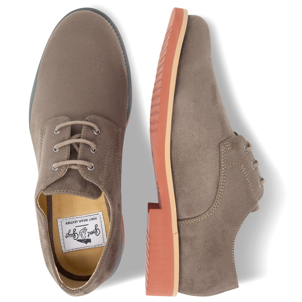 pair of Lace-up Beige Vegan Shoes Aponi from above by Good Guys at ALIVE Boutique