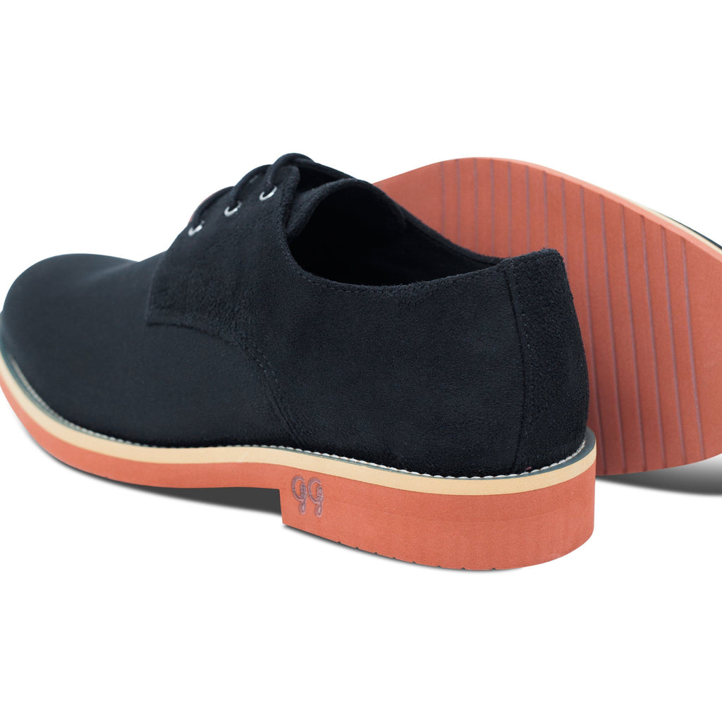 pair of Black Lace-up Vegan Shoes Aponi with the sole by Good Guys at ALIVE Boutique