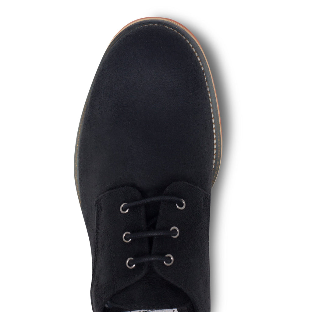 Black Lace-up Vegan Shoes Aponi from above by Good Guys at ALIVE Boutique