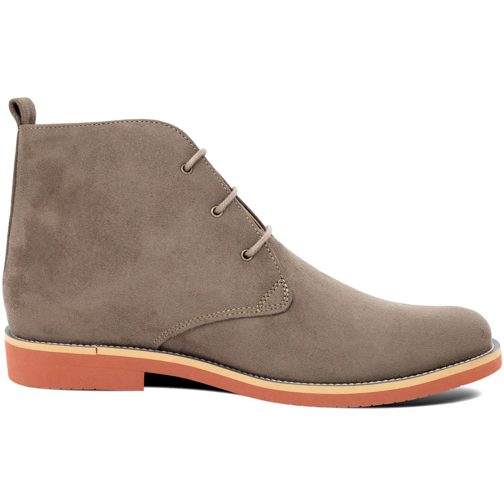 Vegan Desert Boots Ayita Beige from the right by GoodGuys at ALIVE Boutique