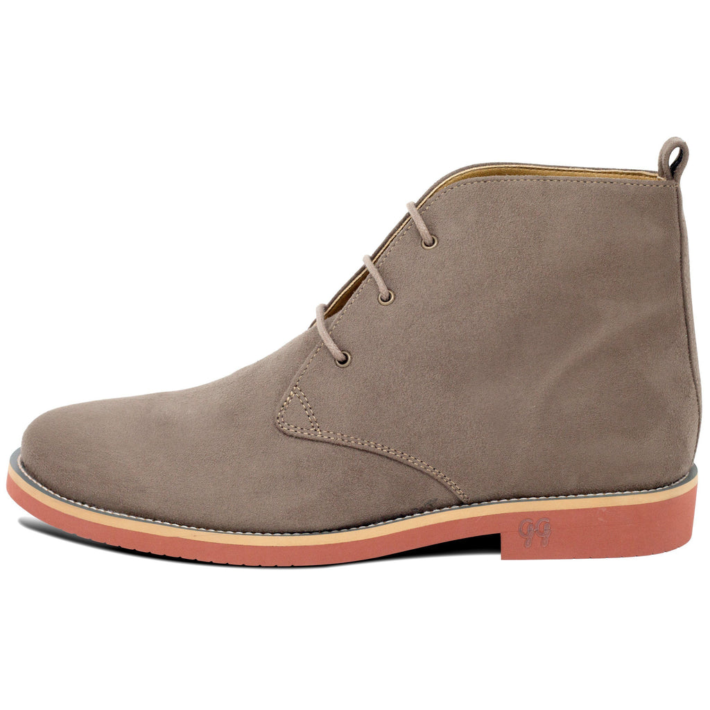 Vegan Desert Boots Ayita Beige from the left by GoodGuys at ALIVE Boutique