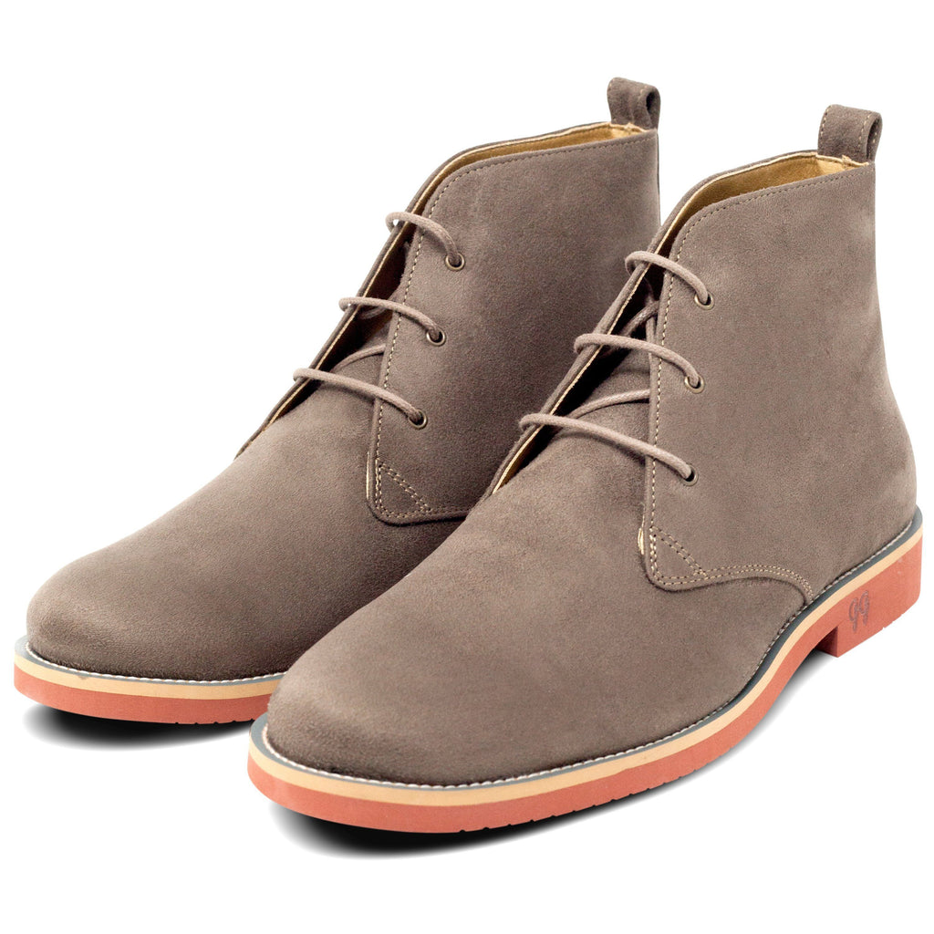 pair of Vegan Desert Boots Ayita Beige by GoodGuys at ALIVE Boutique