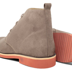 pair of Vegan Desert Boots Ayita and its sole Beige by GoodGuys at ALIVE Boutique