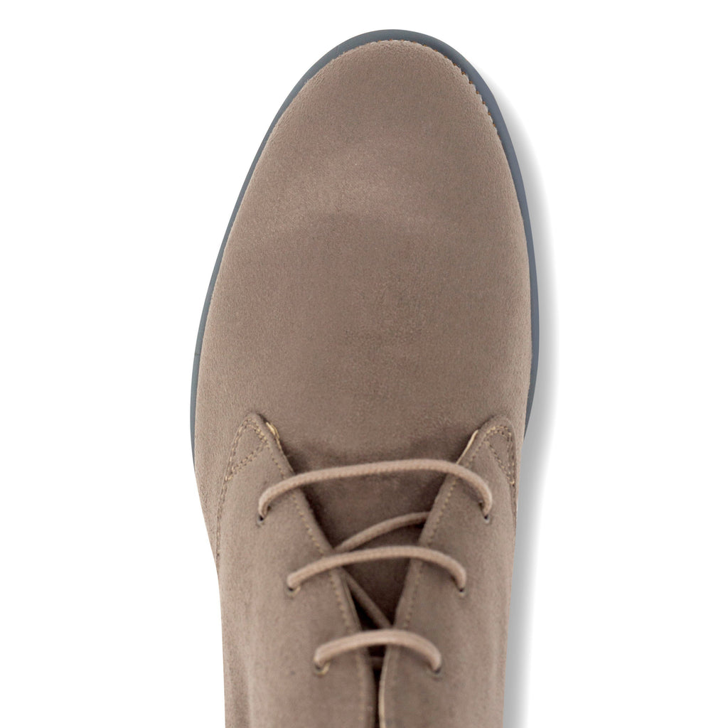 Vegan Desert Boots Ayita Beige from above by GoodGuys at ALIVE Boutique