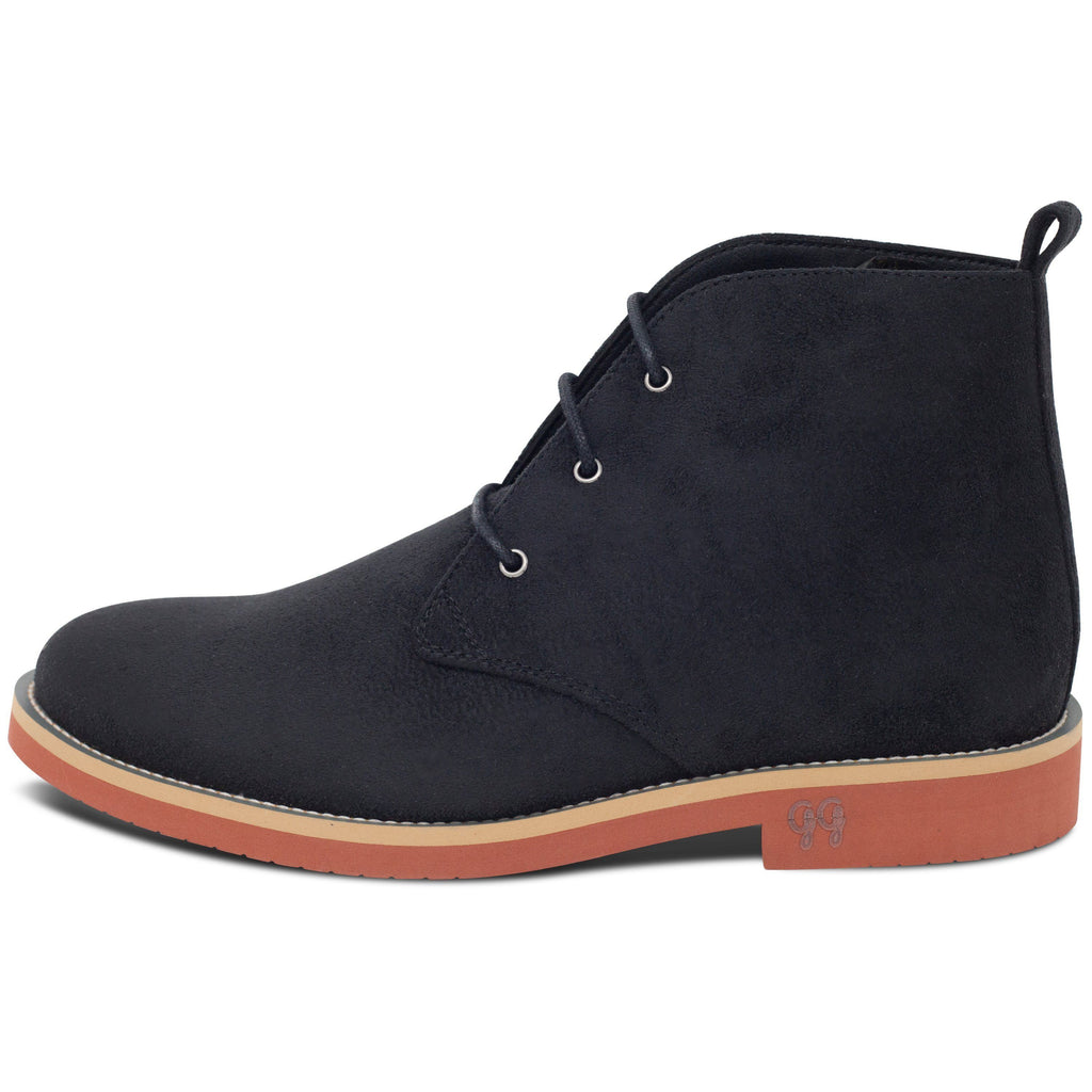 Vegan Desert Boots Ayita Black from the left by GoodGuys at ALIVE Boutique