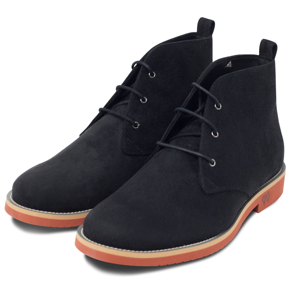 pair of Vegan Desert Boots Ayita Black by GoodGuys at ALIVE Boutique