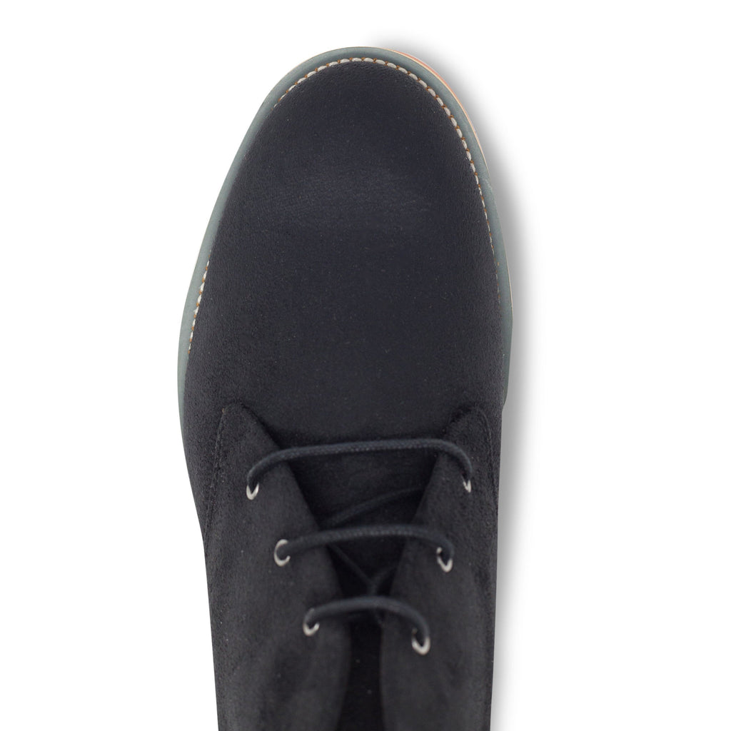 Vegan Desert Boots Ayita Black from above by GoodGuys at ALIVE Boutique