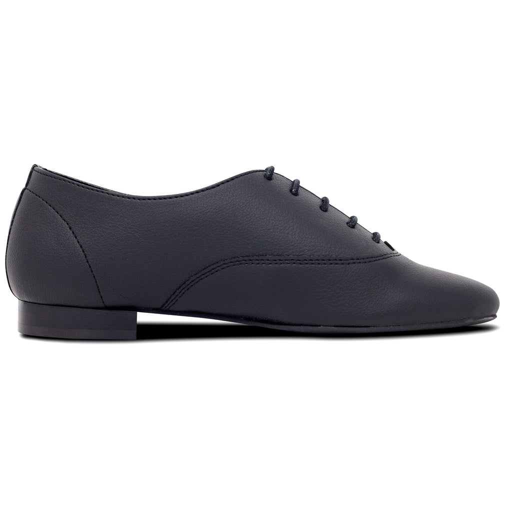 Unisex Vegan Leather Shoes Bee in Black from the right by Good Guys at ALIVE Boutique