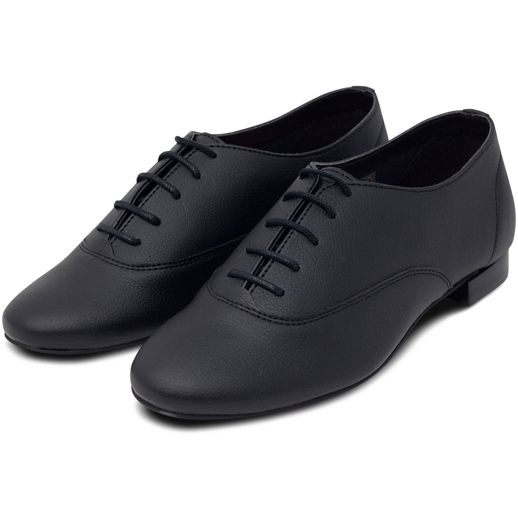 pair of Unisex Vegan Leather Shoes Bee in Black by Good Guys at ALIVE Boutique