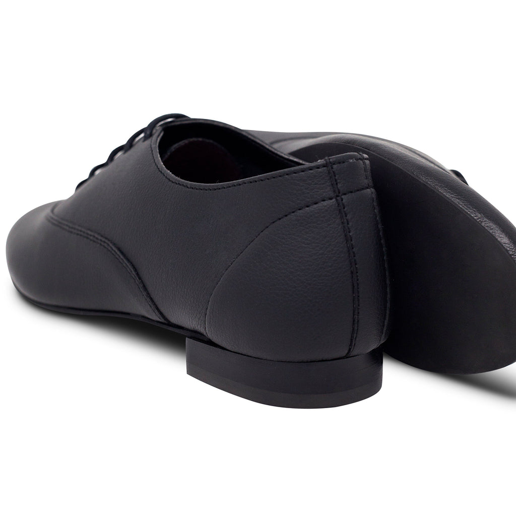 pair of Unisex Vegan Leather Shoes and soles Bee in Black by Good Guys at ALIVE Boutique