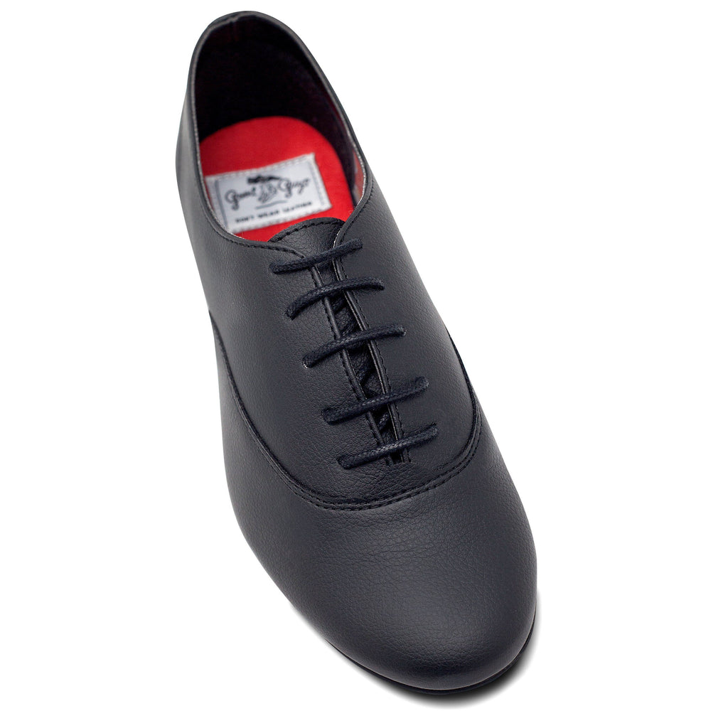 toecap Unisex Vegan Leather Shoes Bee in Black by Good Guys at ALIVE Boutique