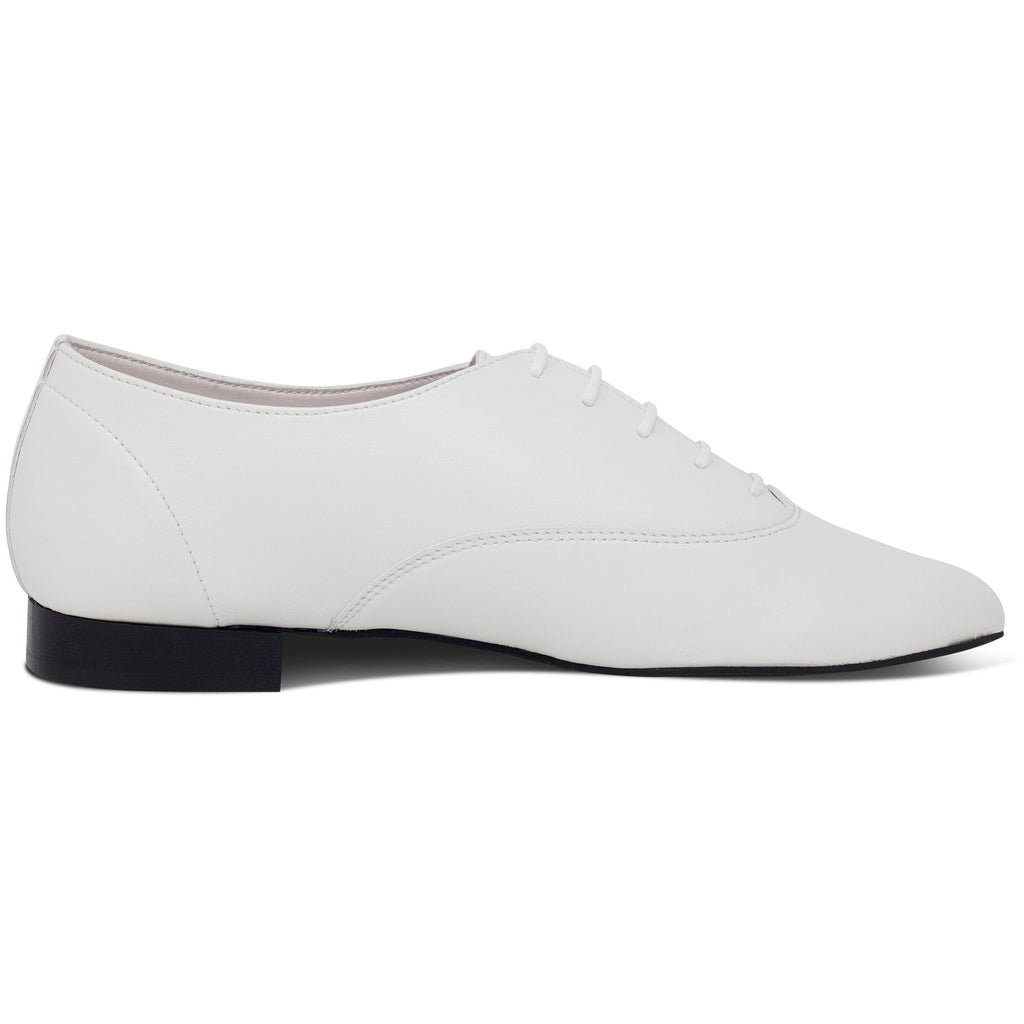 Vegan Shoes Mens Bee in White from the right by Good Guys at ALIVE Boutique