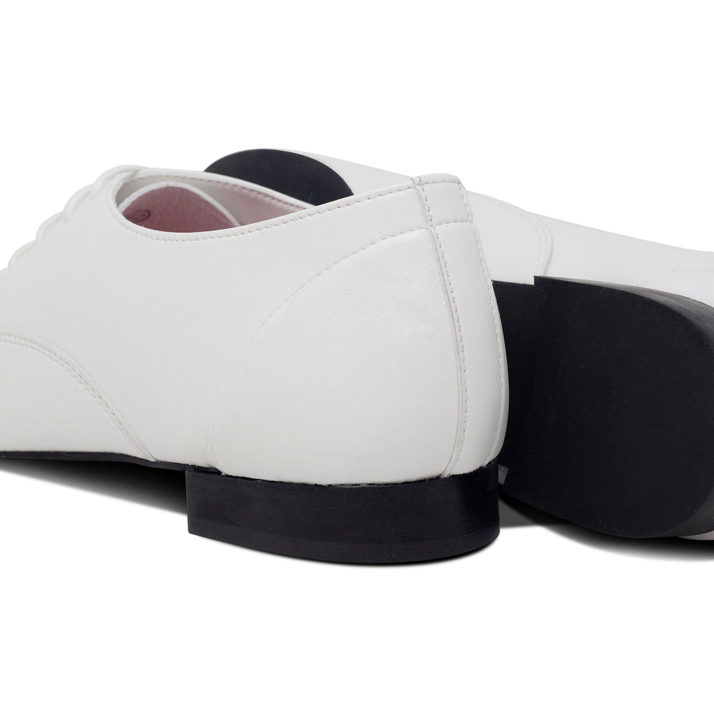 pair of Vegan Shoes Mens and sole Bee in White by Good Guys at ALIVE Boutique
