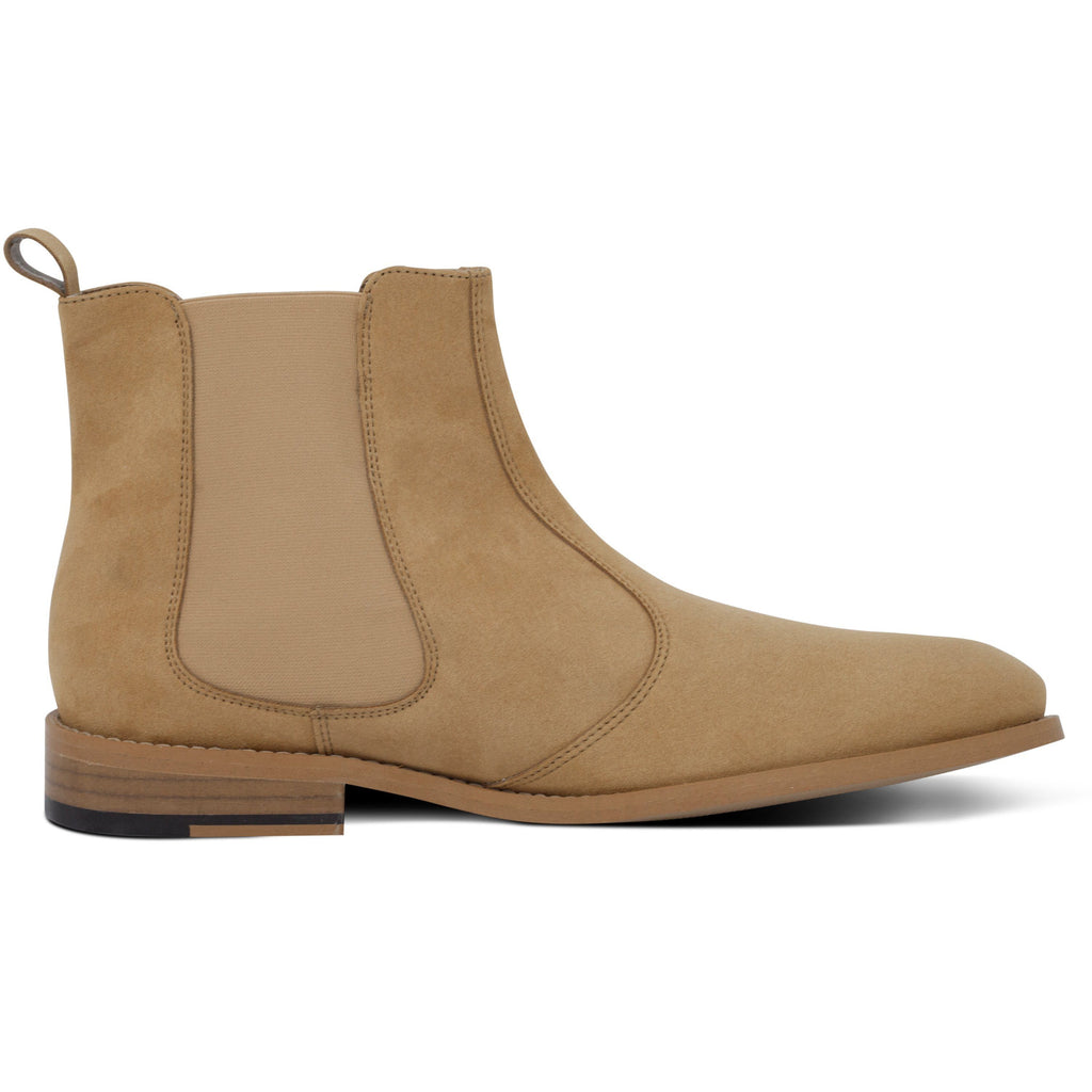 vegan Chelsea Boots for men beige from the right by FAIR at ALIVE Boutique