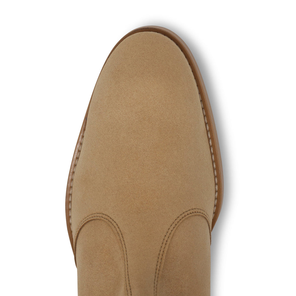 vegan Chelsea Boots for men beige from above by FAIR at ALIVE Boutique