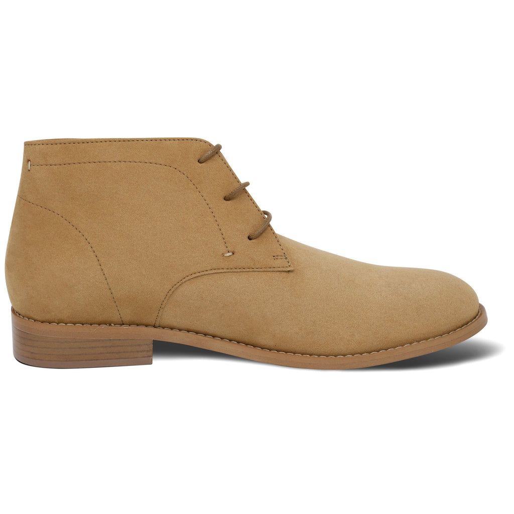 vegan Desert Boots for men from the right beige by FAIR at ALIVE Boutique