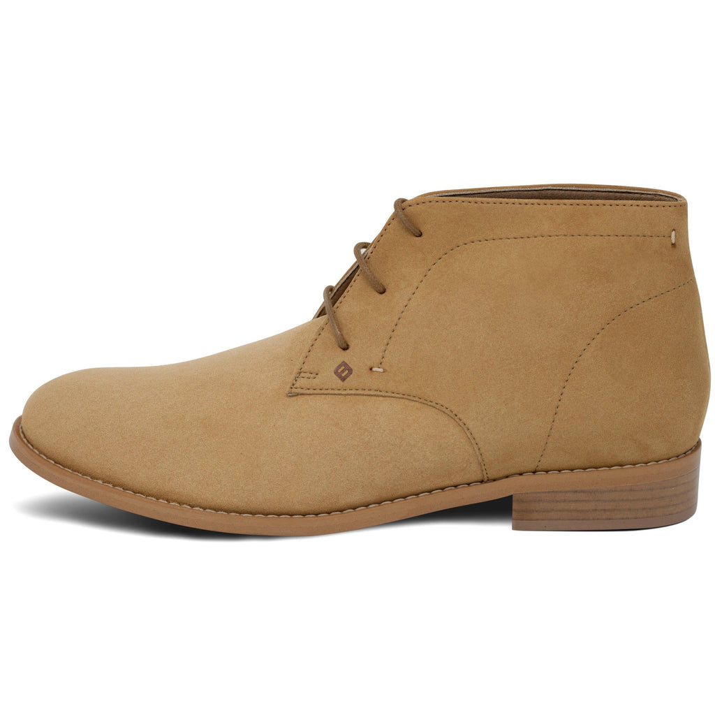 vegan Desert Boots for men from the left beige by FAIR at ALIVE Boutique