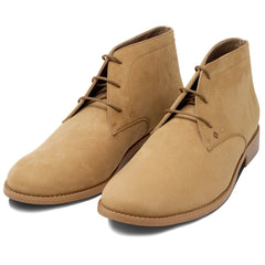 pair of vegan Desert Boots for men beige by FAIR at ALIVE Boutique