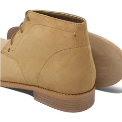pair of vegan Desert Boots and their sole for men beige by FAIR at ALIVE Boutique