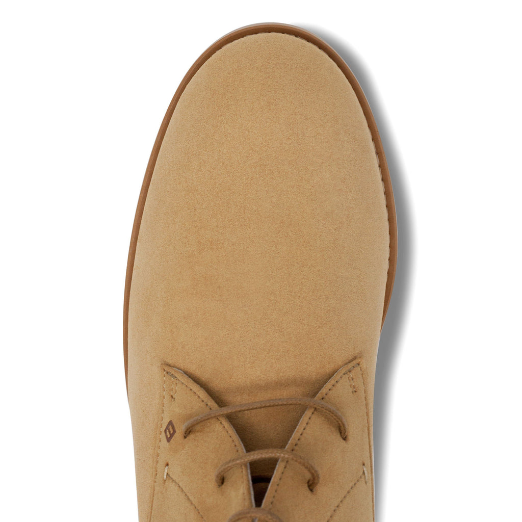 vegan Desert Boots for men from above beige by FAIR at ALIVE Boutique