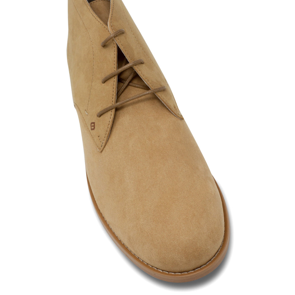 toecap vegan Desert Boots for men beige by FAIR at ALIVE Boutique