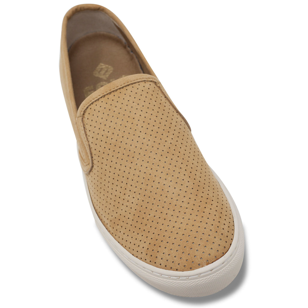 toecap perforated vegan trainer for men slip-on beige by FAIR at ALIVE Boutique