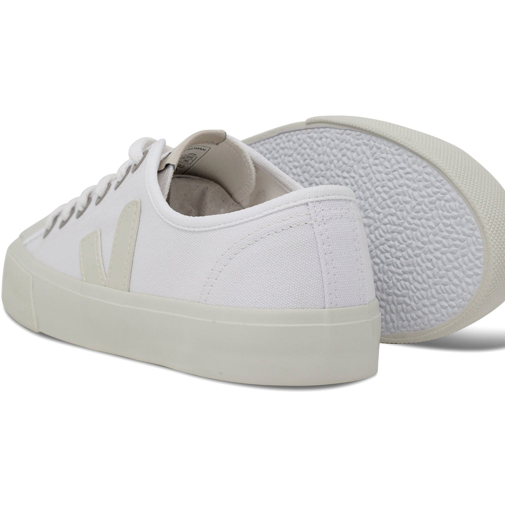 pair of White Vegan Trainers and their sole for women Wata Pierre by Veja at ALIVE