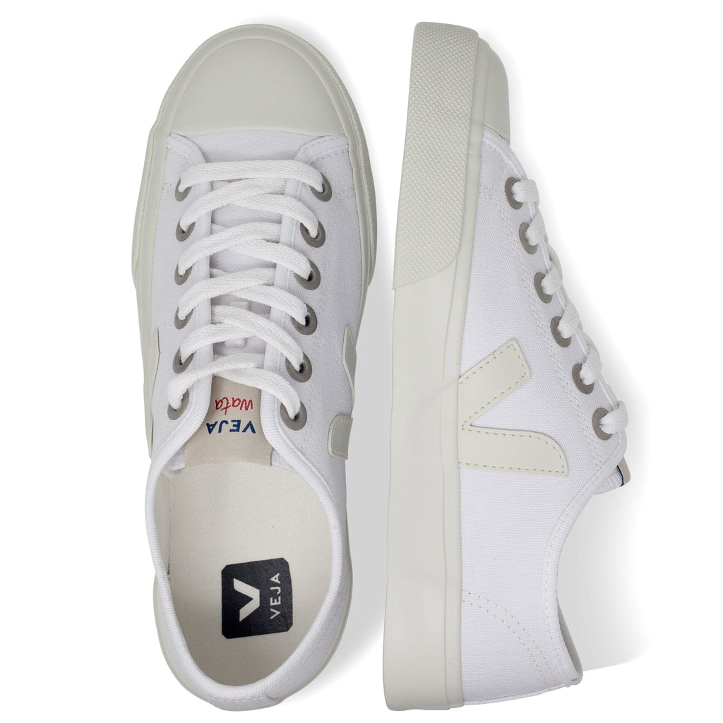 pair of White Vegan Trainers from above for women Wata Pierre by Veja at ALIVE