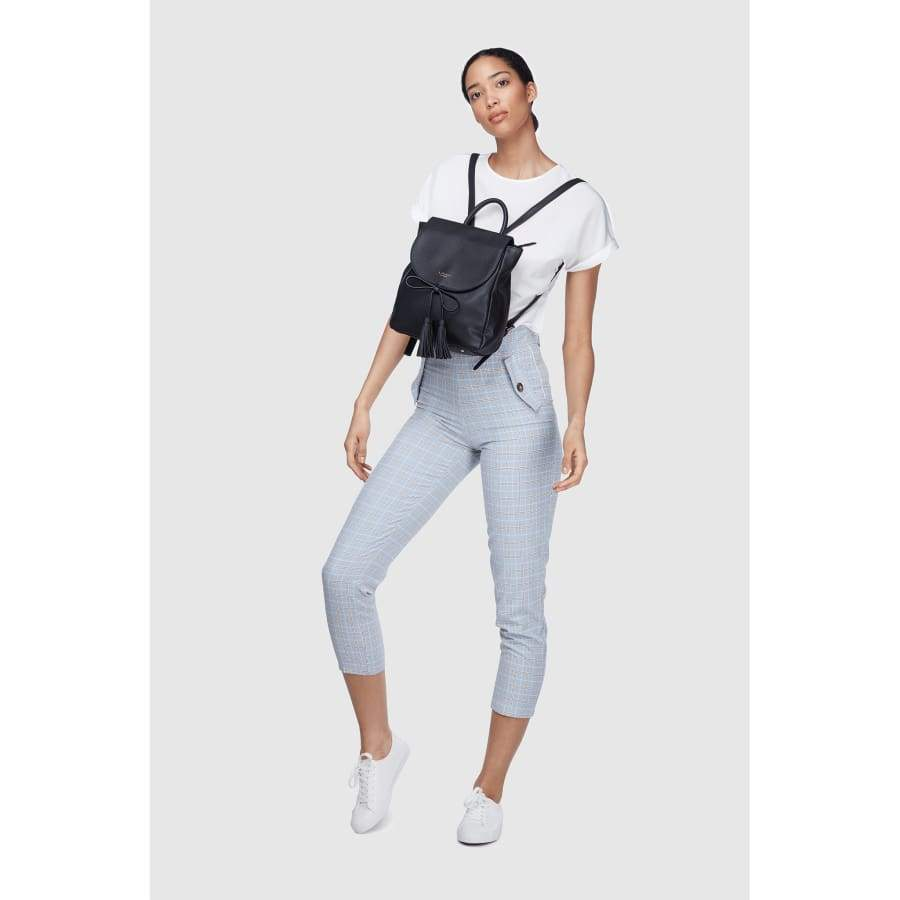 vegan backpack miley full body portrait