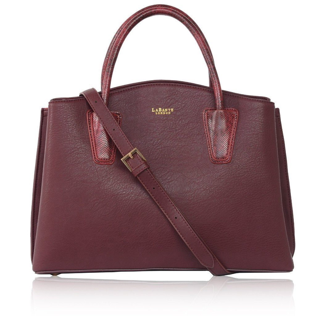 Vegan Handbag Bordeaux Cabriole Tote Bag by Labante from the front