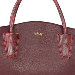 Bordeaux Cabriole Vegan Leather Tote Bag by Labante detailed picture from the front at ALIVE