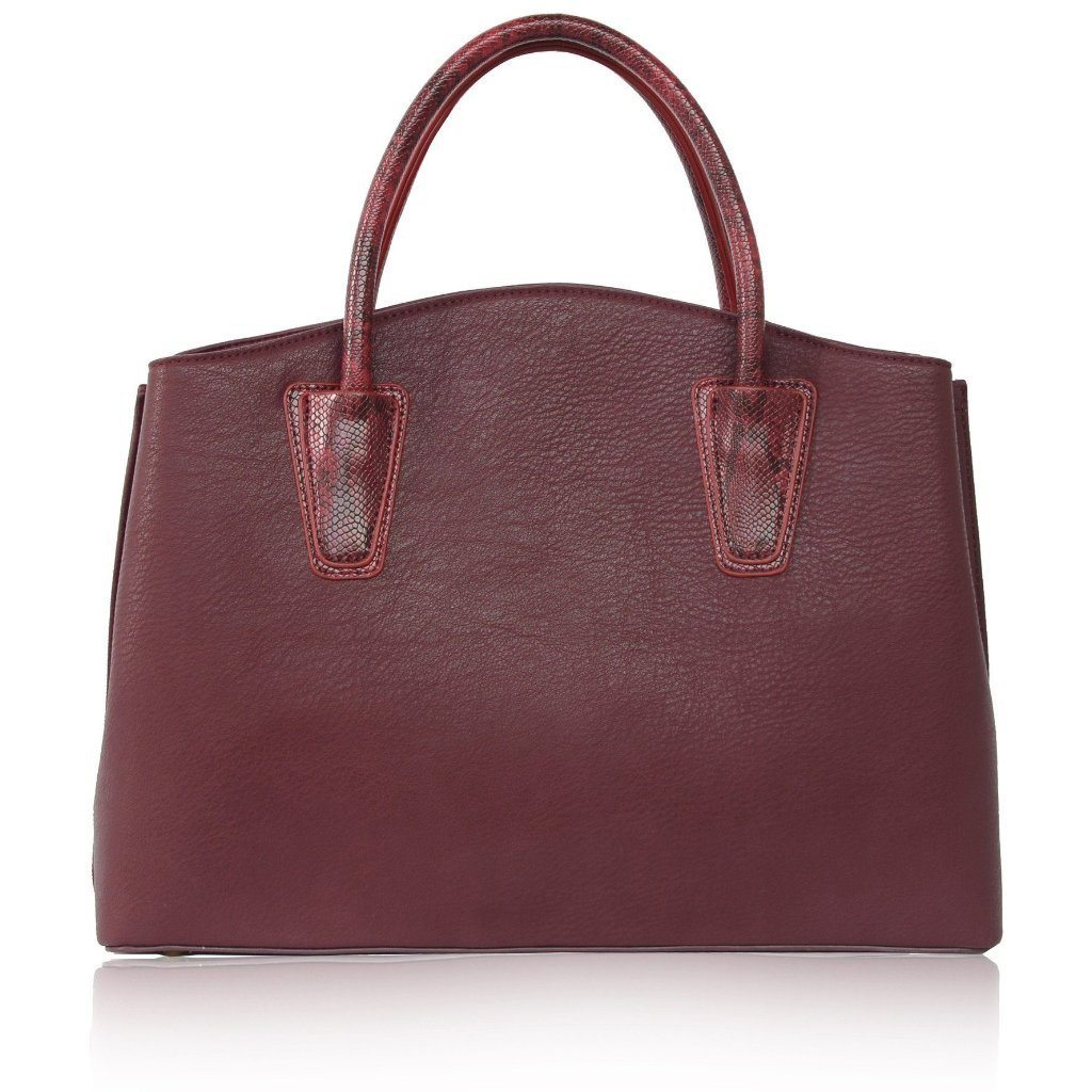 Vegan Handbag Bordeaux Cabriole by Labante shot from behind at ALIVE Boutique