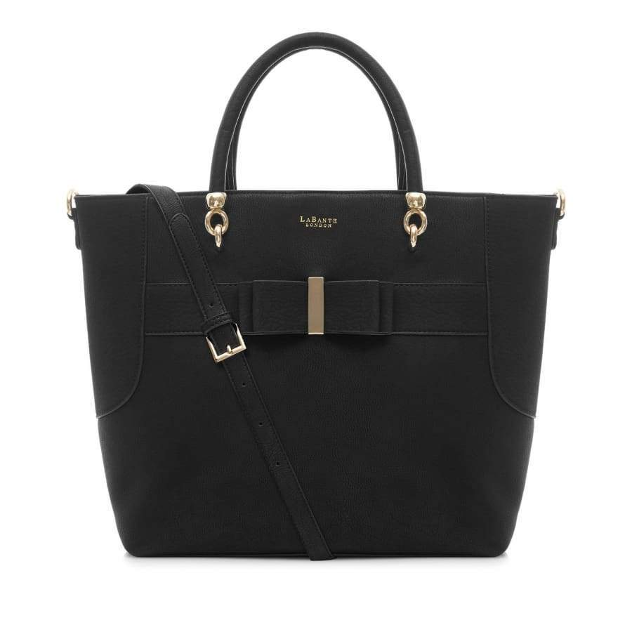 vegan handbags Ally Black Tote Bag