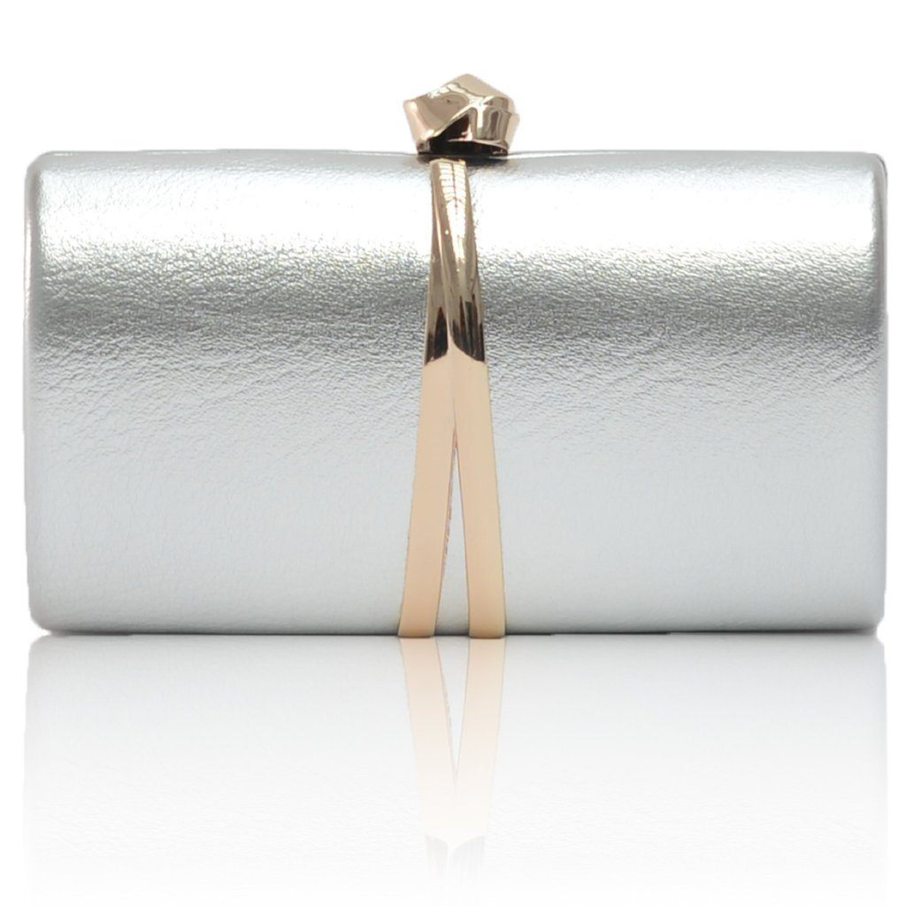 vegan leather handbag barre silver clutch alive boutique