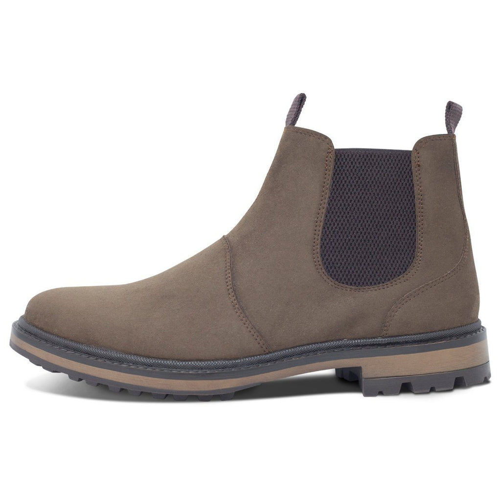 vegan shoes for men Continental Chelsea Boots in Dark Brown from the left