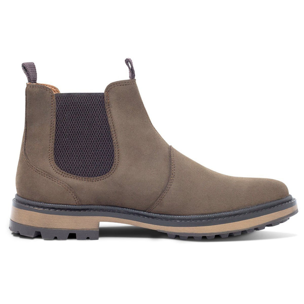 vegan shoes for men Continental Chelsea Boots in Dark Brown