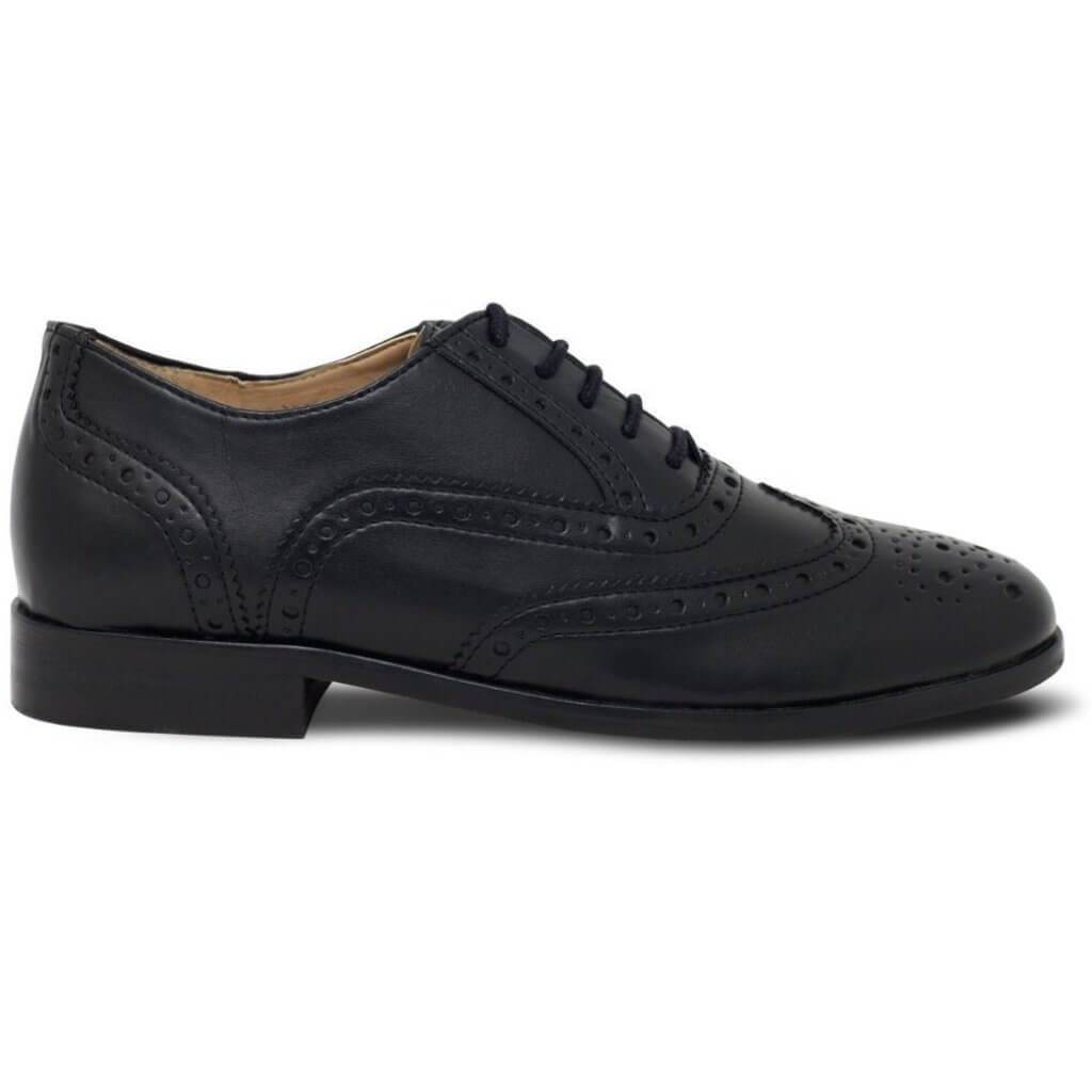 vegan shoes uk Women's Oxford Brogues black