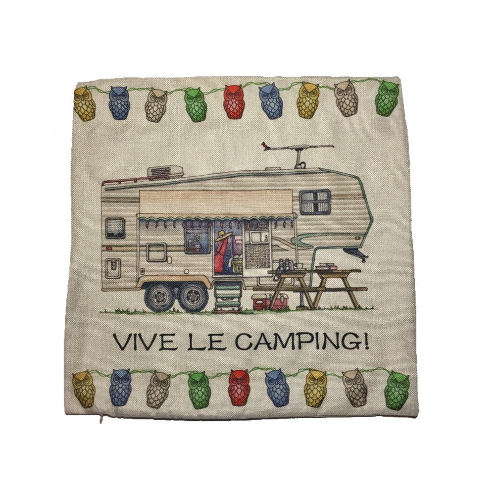 housse coussin vive le camping fifth wheel happy camper