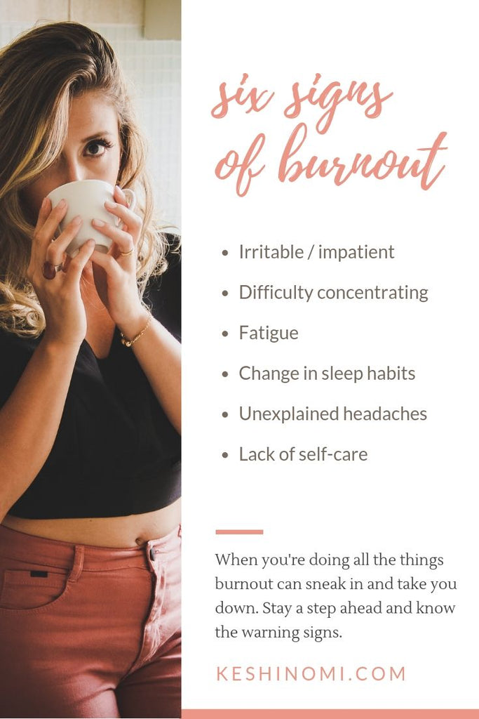6 warning signs of burnout