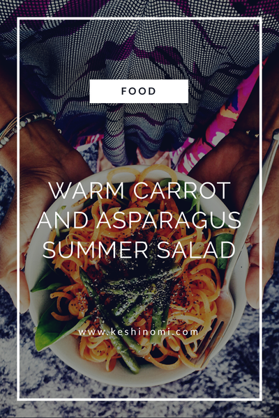 Carrot and asparagus salad