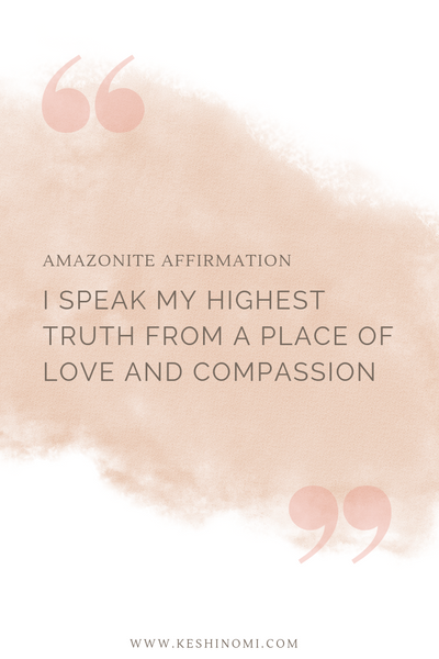 Amazonite affirmation, crystal meanings